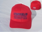 Red Flex Fit Cap - Product Image